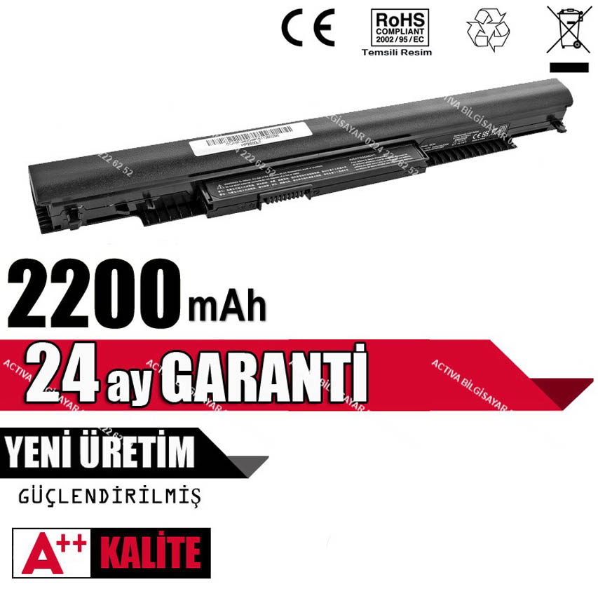 Hp Pavilion 14-AM007NT Uyumlu Laptop Batarya, Pil
