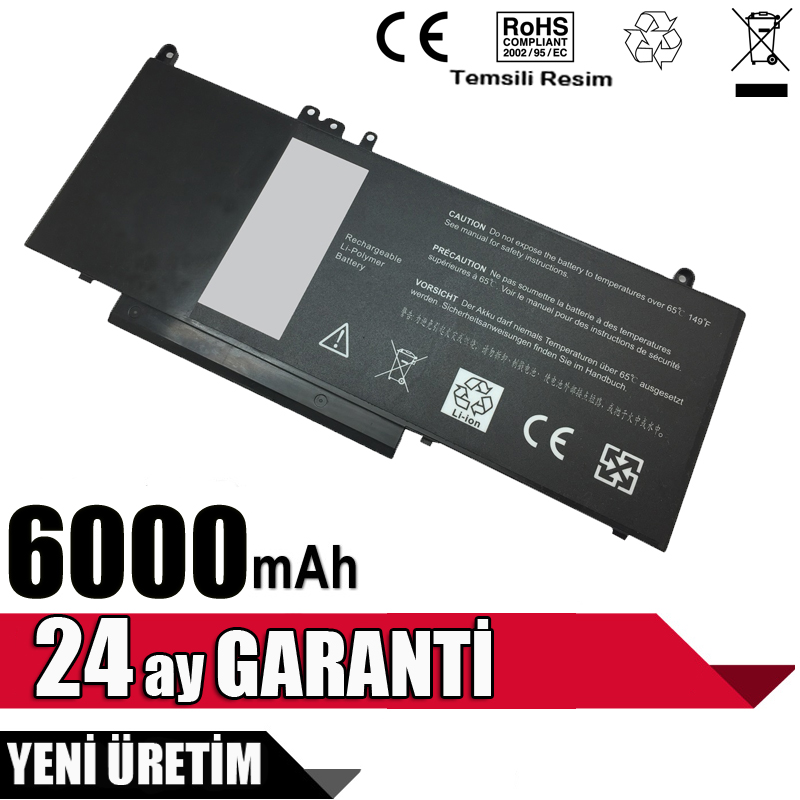 Dell HK6DV, 0HK6DV, K3JK9, CHWGG Batarya Pil 4 Cell