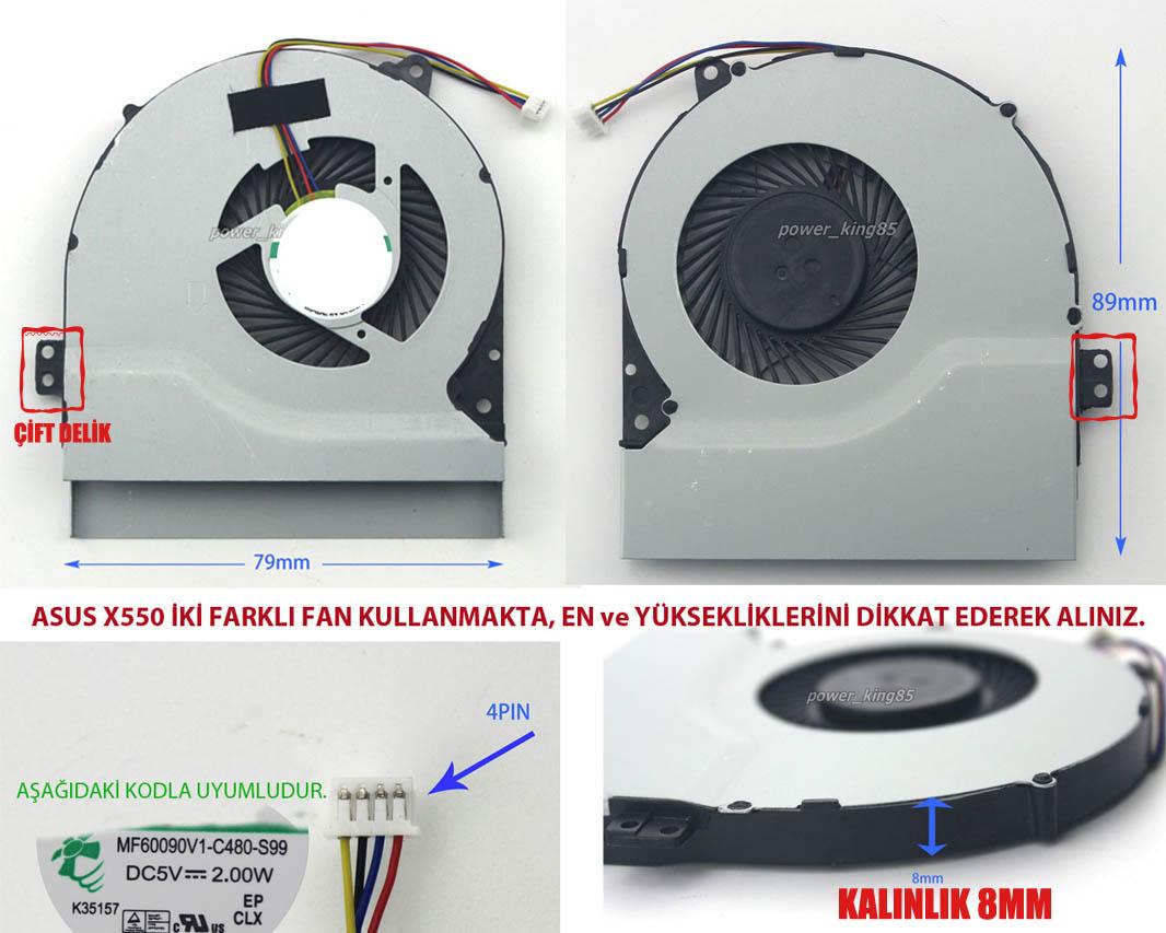 Asus X550VC-XO0224 Uyumlu Fan