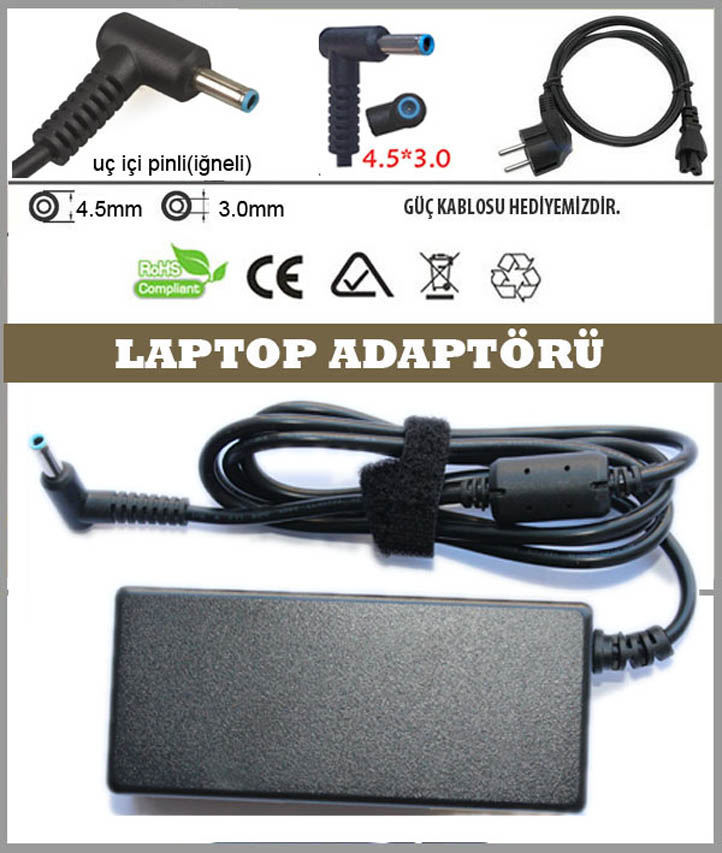 HP Probook 650 G2 Uyumlu Laptop Şarj Aleti, Adaptör