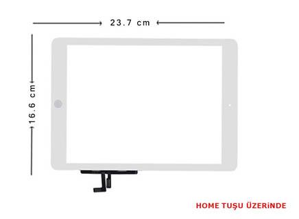 iPad 5. Nesil  2017 A1822 ve A1823 Ön Cam Beyaz Dokunmatik HOME tuşsuz