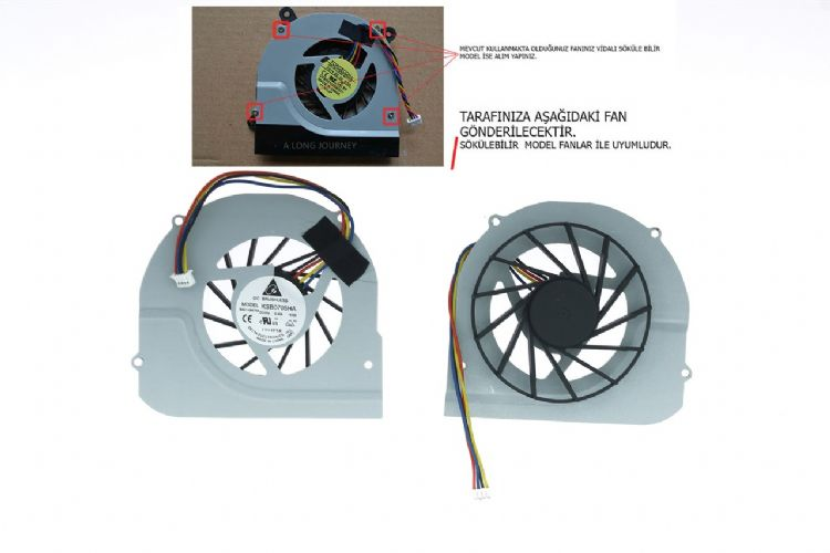 Toshiba Satellite U500-17V PSU52E cpu soğutucu fan
