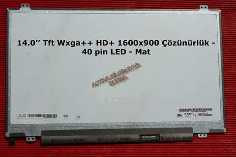 14.0 Slim 40 pin Wxga 1600x900 HD LP140WD2-TLD3 LED - Mat