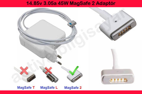 Apple MacBook Air MD223 Adaptör, Şarj Magsafe 2 45w