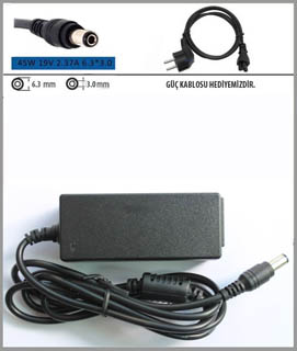 Toshiba 19v 2.37a 6.3x3.0 Adaptör