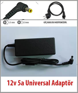 12V 5A VESTEL DMT19W-1DX4-VS ADAPTOR