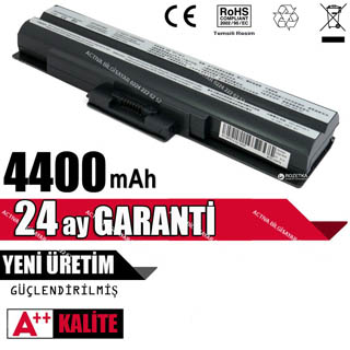 Sony Vaio PCG-3E5P, PCG-3F1M, PCG-3J1M, PCG-7141M Batarya Pil Siyah Resim