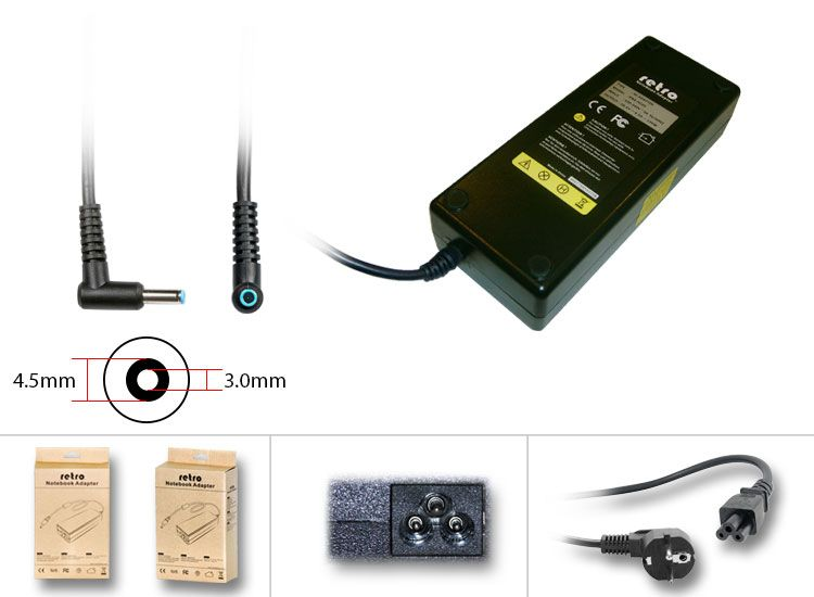 ADP065-Hp Compaq uyumlu 19_5v 7_7a 150w pinli Uç 4_5mm Mavi uç Adaptör