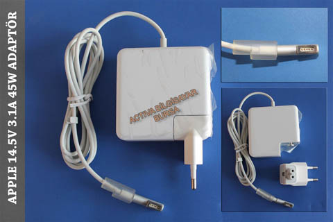 ADP-54GD Apple MacBook Air A1244 14.5V 3.1A 45W Adaptör, Şarj