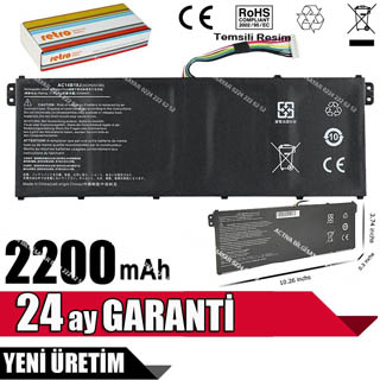 Packard bell EasyNote TG71-BM ENTg71bm MS2397 Batarya Pil