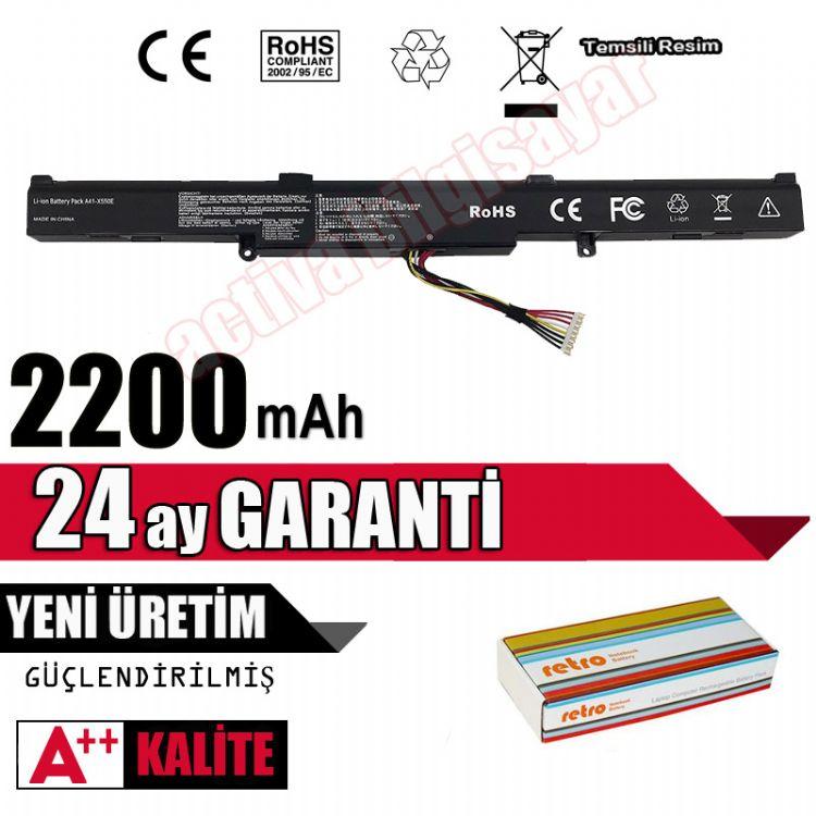 Asus A751NV, A751YI, D552CA, D552CC, D552CL, D552DP Batarya Pil Resim