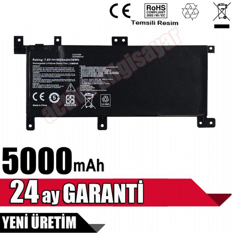 Asus X556UA, X556UB, X556UF, X556UJ, X556UQ, X556UR, X556UV Batarya Pil Resim