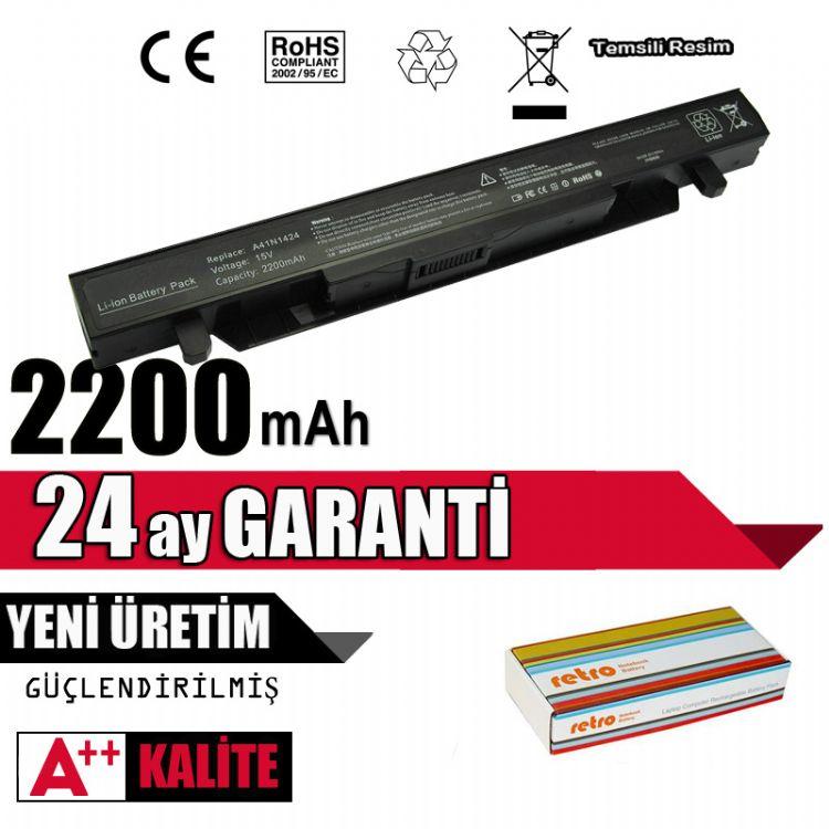 Asus ROG GL552, GL552V, A41N1424 A41N1501 A41Lk5H ZX50 Batarya Pil