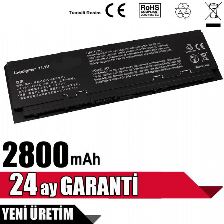 Dell Latitude E7250, 12 7000 (7250), P22S, P22S002 Batarya 3 CELL Pil