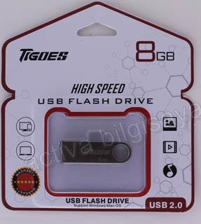 TIGOES USB 2.0 8 GB USB BELLEK METAL GÜMÜŞ