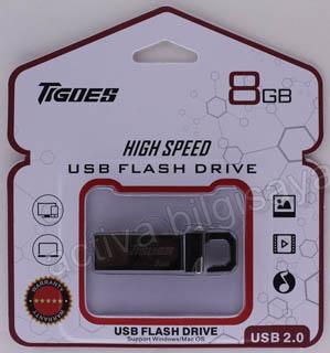TIGOES USB 2.0 8 GB USB BELLEK METAL SİYAH