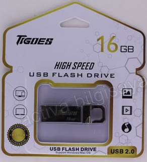 TIGOES USB 2.0 16 GB USB BELLEK METAL SİYAH