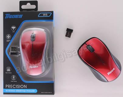 Tigoes W5 Mouse Kablosuz Kırmızı