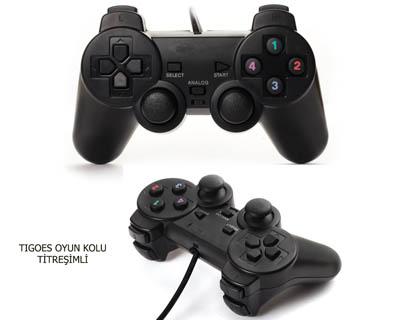 Çift Titreşim Motorlu PC Oyun Kolu Usb PC ANALOG USB OYUN KOLU