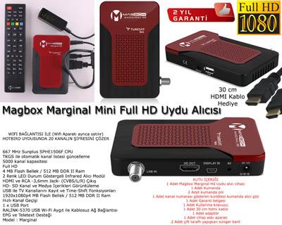Magbox Marginal Mini Full HD Uydu Alıcısı TKGS Özellikli