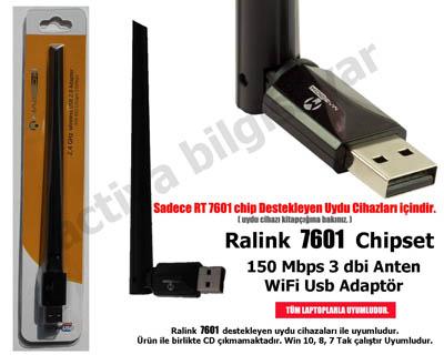 Usb Wireless 150mbps 3dbi Kablosuz Sadece RT7601 Uydu Cihaz için