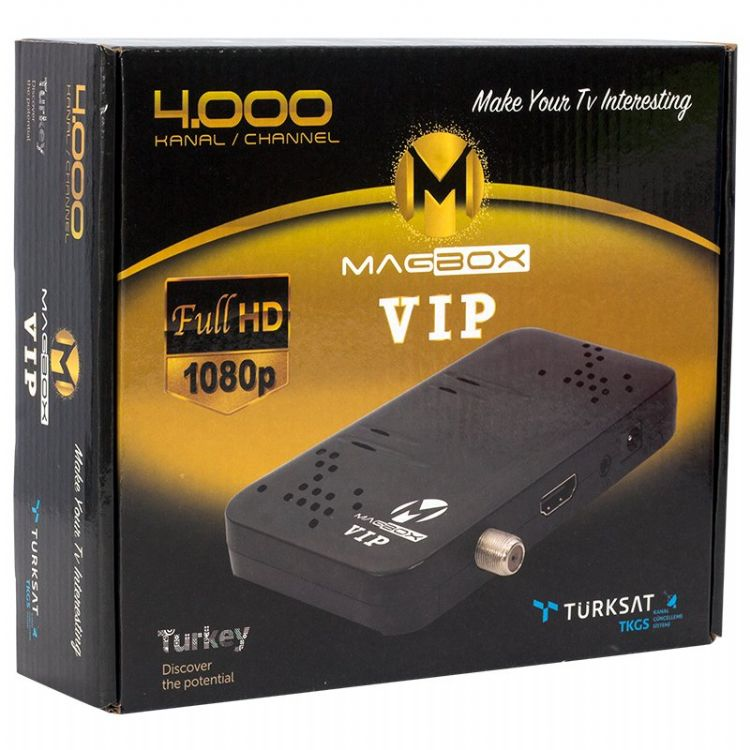 Magbox Vip Usb Mini Full HD TKGS li Çift Usb Displaylı Uydu Alıcısı