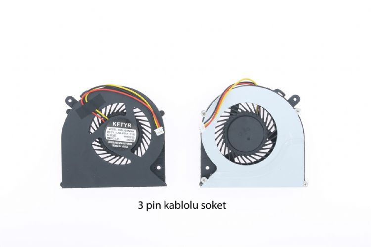 Toshiba Satellite C850, C850D, C855, C855D Fan 3 Pin MODEL-1