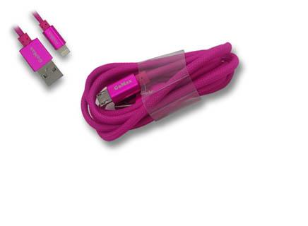 Cep Telefonu 5 pin Micro Usb Şarj Etme Kablosu PEMBE
