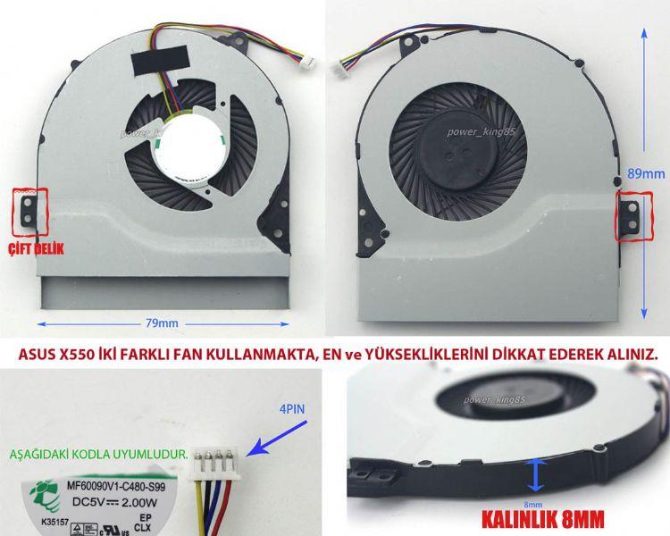 Asus X550VC-XO0224 Uyumlu Fan Resim