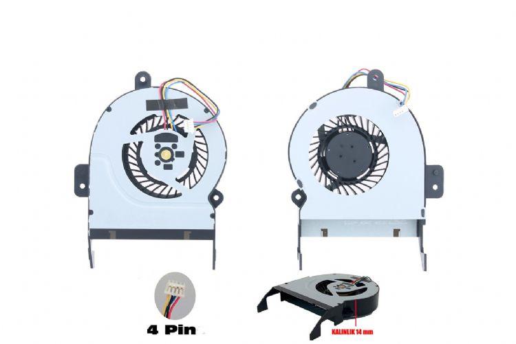 Asus X45V, X45Vd, X55V, X55Vd, F55V, F55Vd Fan 14mm Genişlik