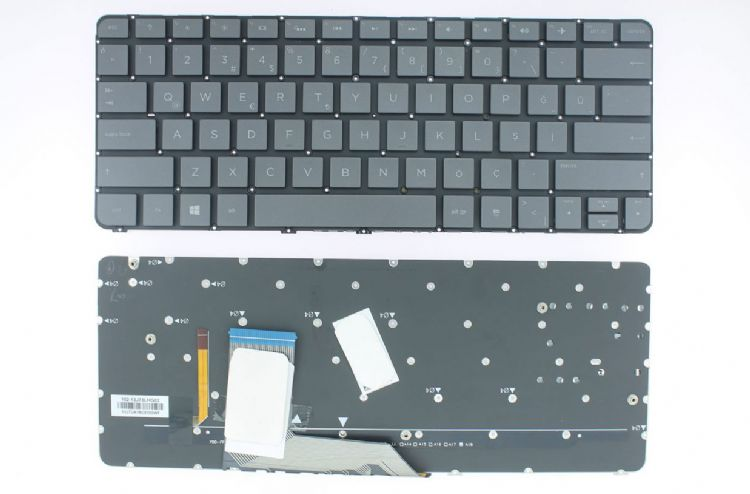 Hp Spectre x360 13t-4000, 13t-4100, 13t-4200 Uyumlu Klavye Siyah