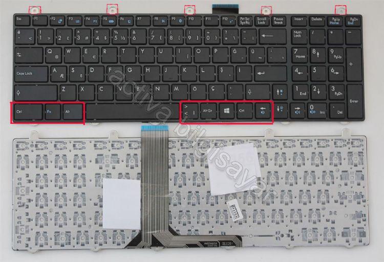 Monster P955HP, P955HP6, N870HK1, N875HP6 Klavye Işıksız Resim
