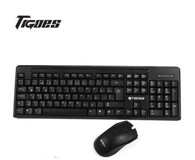 Tigoes KW81 Siyah Kablosuz Q Multimedia Klavye  Mouse Set