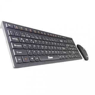 Tigoes KW86 Slim Siyah Kablosuz Q  Klavye Mouse Set