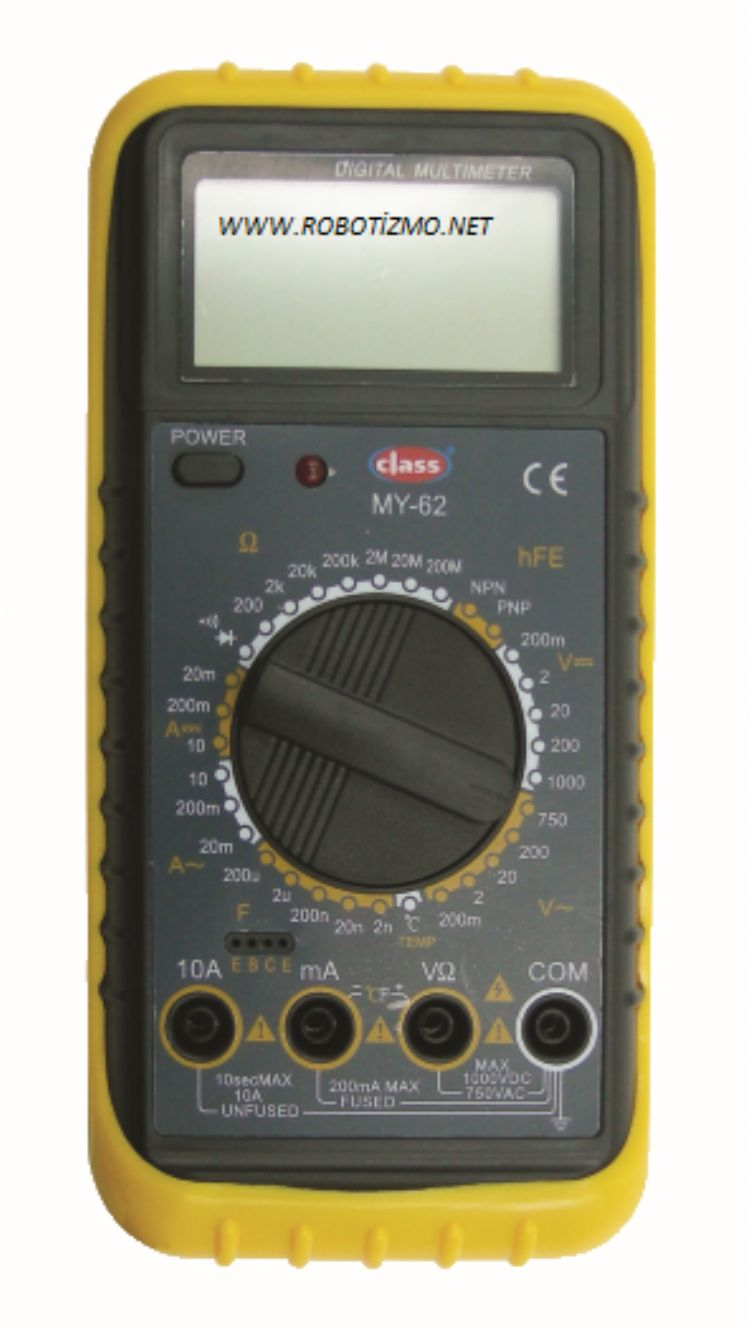 DIGITAL MULTIMETER ÖLÇÜ ALETİ MY62