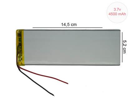 3.7V 4500 mAh 5.2 cm x 14.5 cm Tablet Pil , Batarya