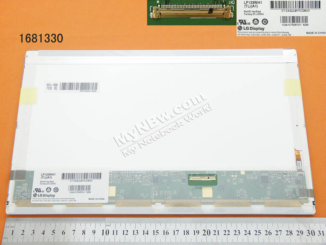 13 3 led 40 pin notebook lcd panel ekran