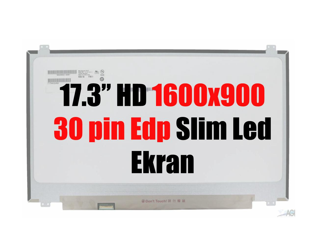 "LTN173KT04, N173FGA-E34 17.3"" Edp Slim Led 30 pin 1600x900 Ekran"