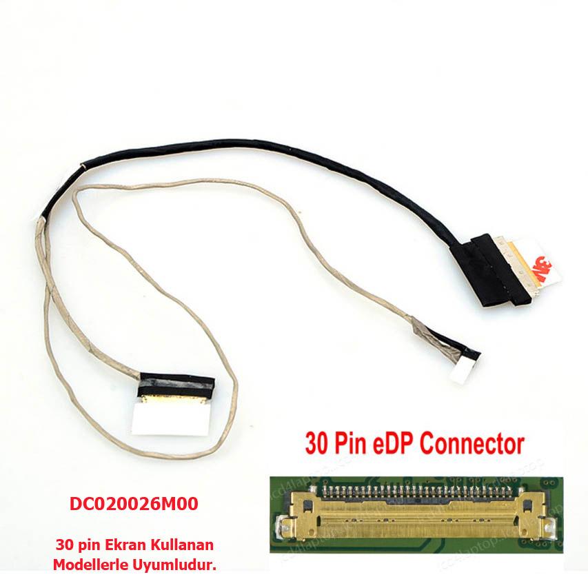 Hp 15-ac014nt 15-ac100nt 15-ac108nt 15-ac116nt TPN-C125 Lcd Data Flex Kablo