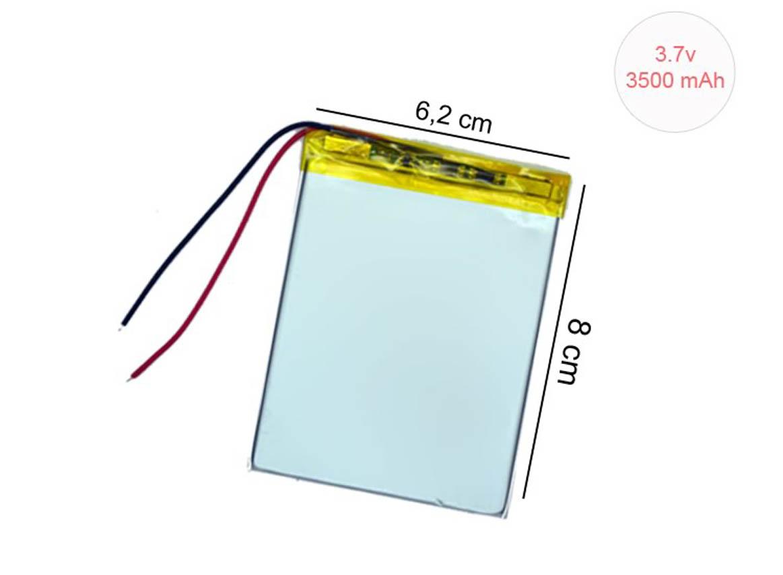 3.7V 3500 mAh 6.2 x 8 cm TBA28 Tablet Bataryası