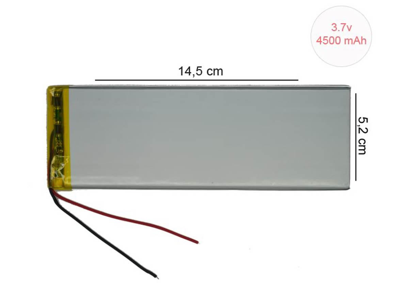 4500 Mah Tablet Pil Batarya Uzun Tip TBA29 35x52x145mm
